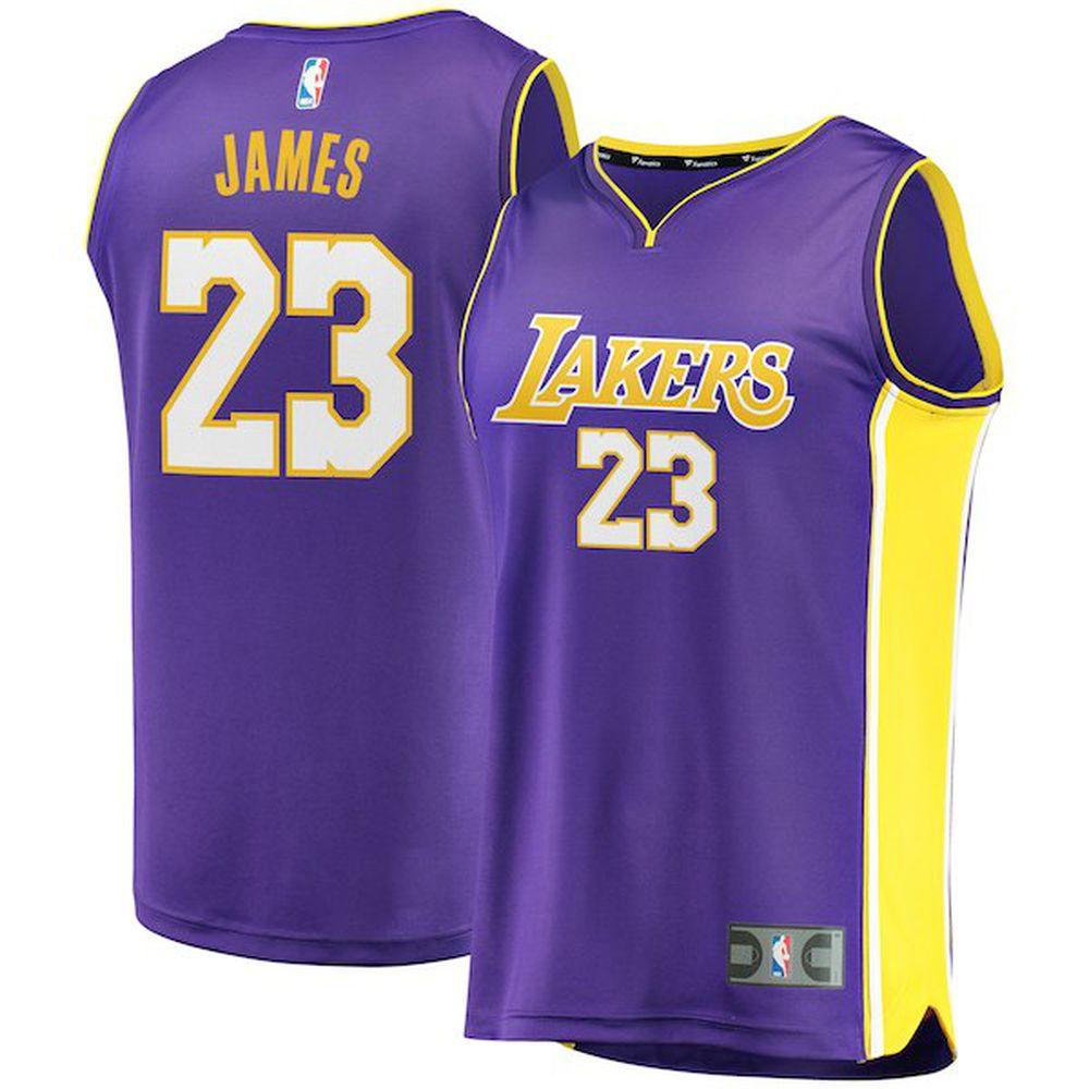 234b3db20 LeBron James Fanatics Branded Purple Fast Break Replica – Statement Edition