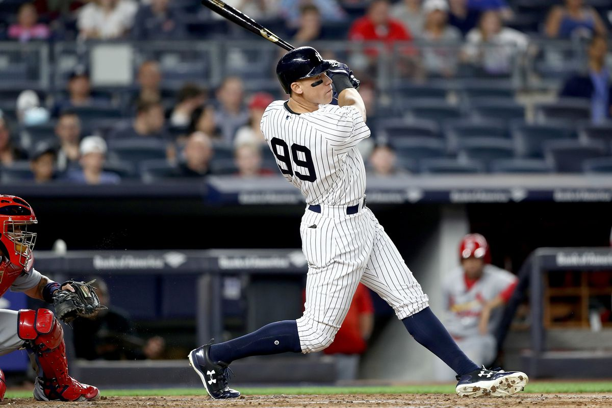 St. Louis Cardinals v New York Yankees - Aaron Judge hits triple