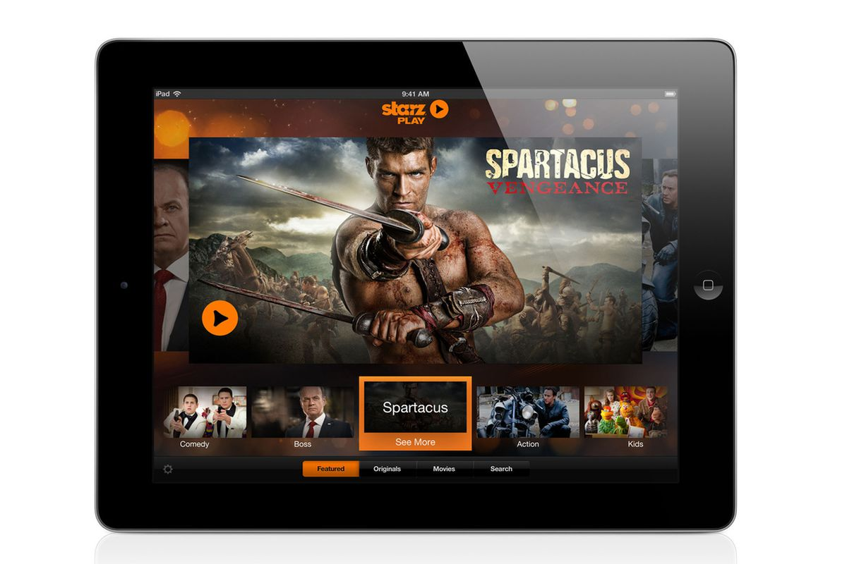 Starz Play and Encore Play 'authenticated' streaming video