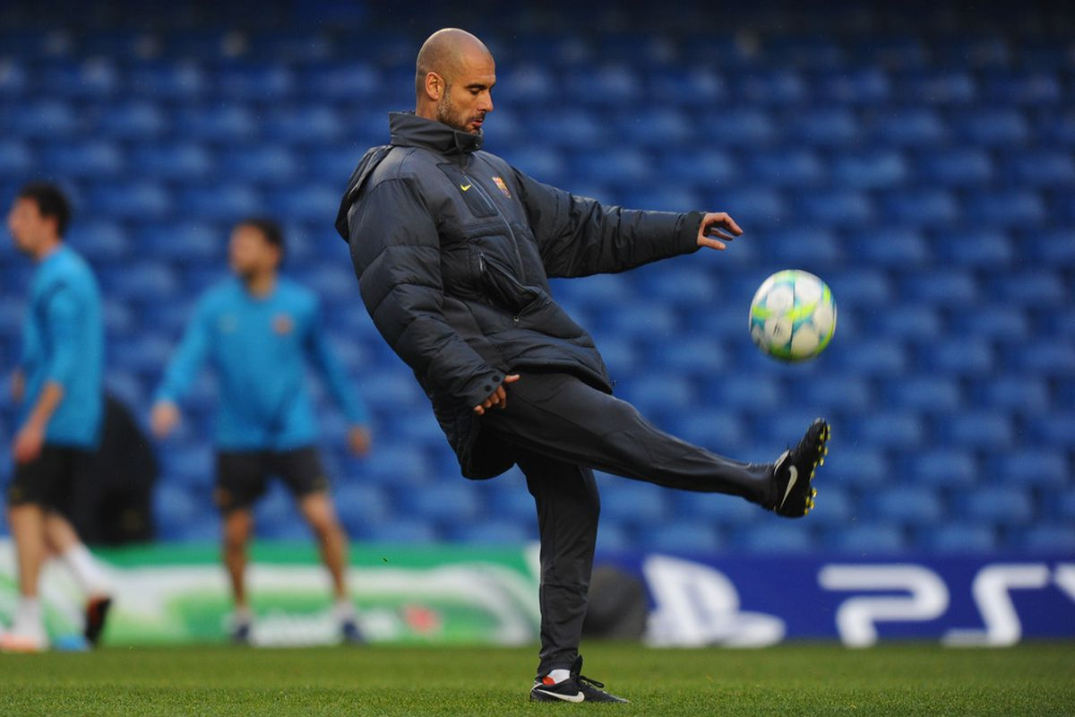 Pep rejected your reality and substituted his own.  (Photo by Mike Hewitt/Getty Images)