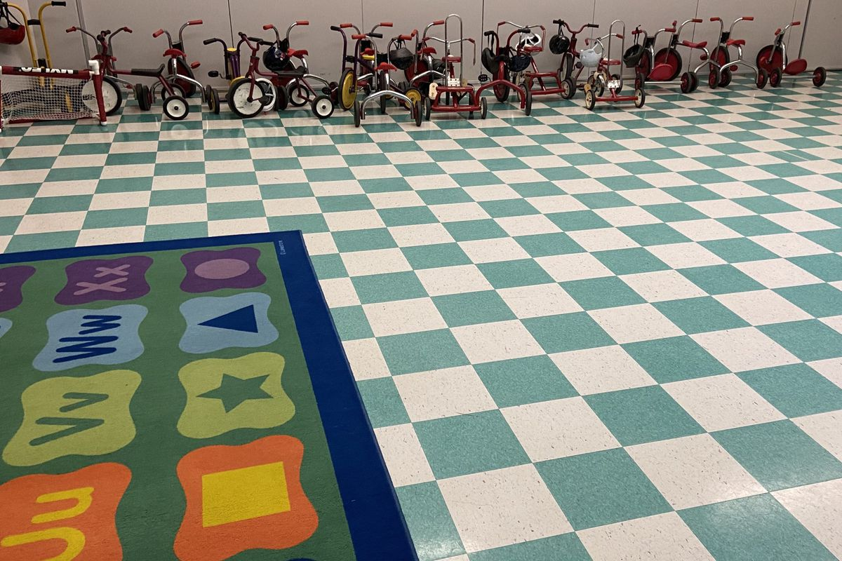An empty gym at the Cotter Early Childhood Center on March 4, 2020.