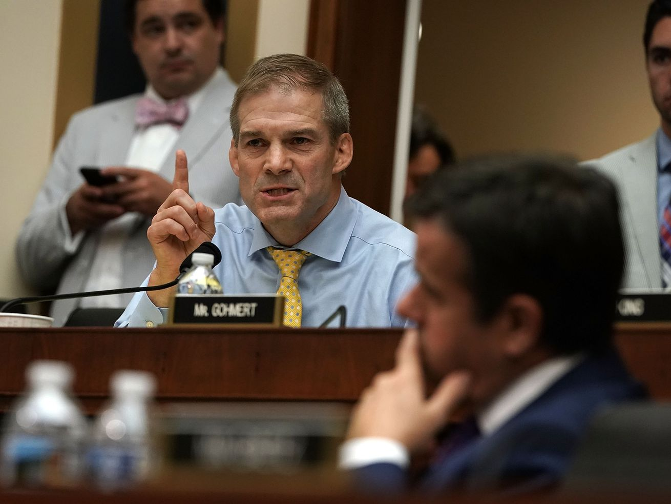 Rep. Jim Jordan (R-OH) speaks during a hearing before the House Judiciary Committee, the committee he wants to be ranking member of.