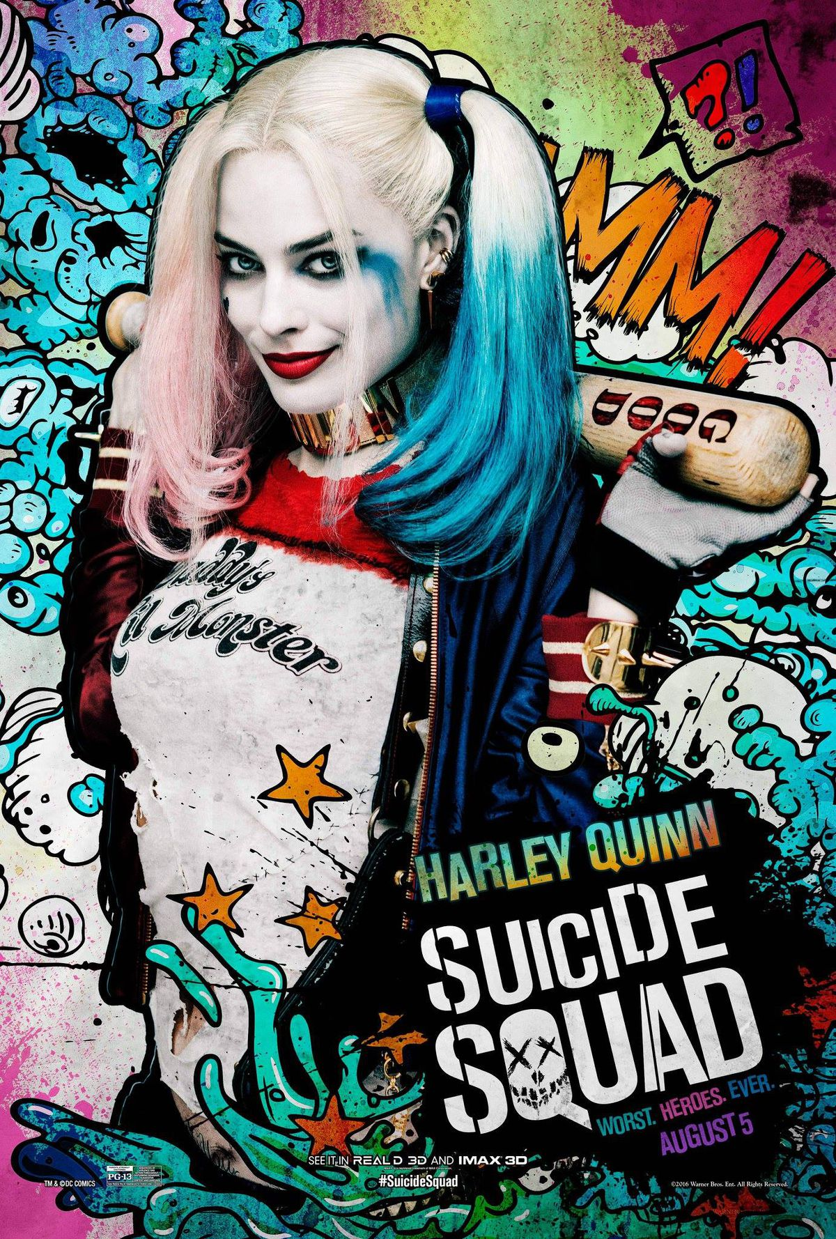 Harley Quinn's Suicide Squad character poster