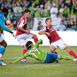 Timbers own goal, adding the 3rd goal of the match.