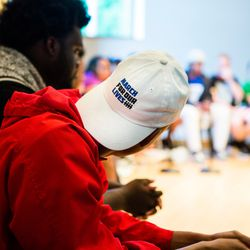 The March For Our Lives town hall meeting at The DuPage Unitarian Universalist Church, Naperville, June 16th, 2018. | James Foster/For the Sun-Times