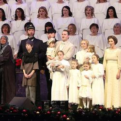 Actors perform during the Mormon Tabernacle Choir Christmas concert in Salt Lake City on Thursday, Dec. 14, 2017.