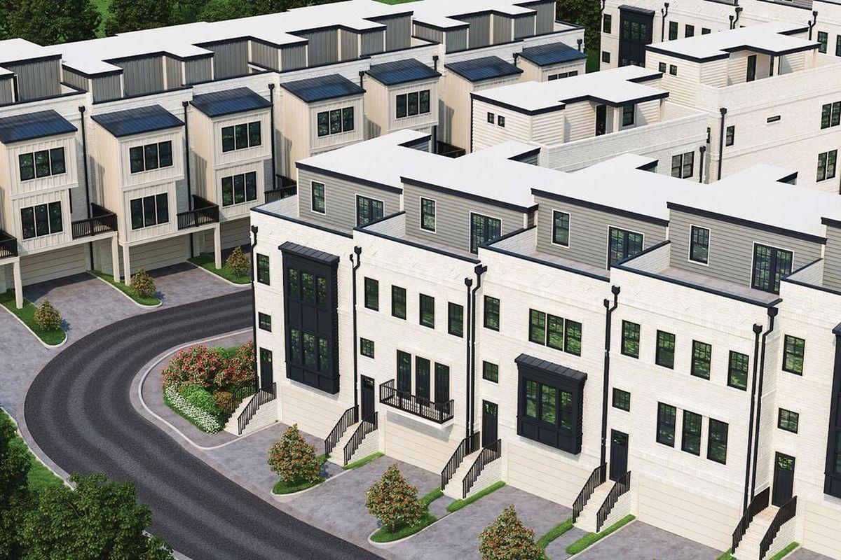 A new housing pocket, in renderings, planned for Brookwood Atlanta.