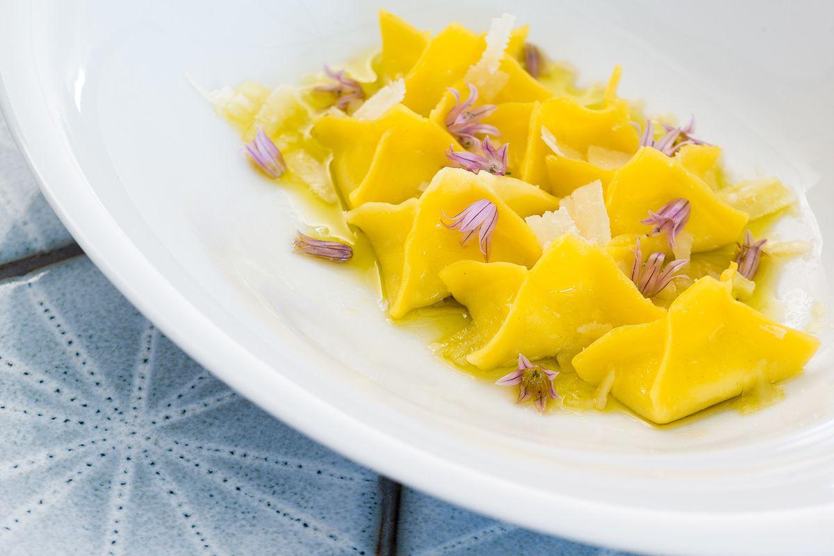 A pasta course at Masseria [Photo: R. Lopez]