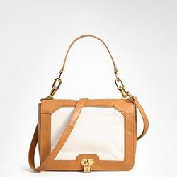 """<a href=""""http://www.toryburch.com/Bond-Shoulder-Bag/11129773,default,pd.html?dwvar_11129773_color=126&start=123&cgid=sale"""">Bond shoulder bag</a>, $374 (was $535)"""