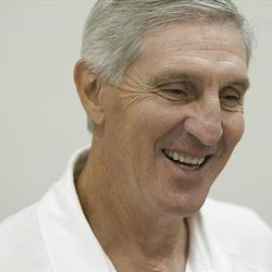 Utah Jazz head coach Jerry Sloan enjoys the strategy of playoff basketball. This is the coach's 20th playoff team.