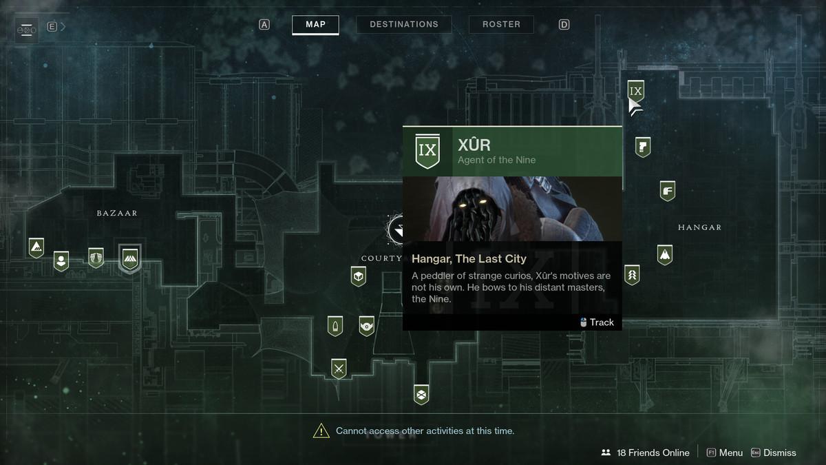 Destiny 2 Xur Tower