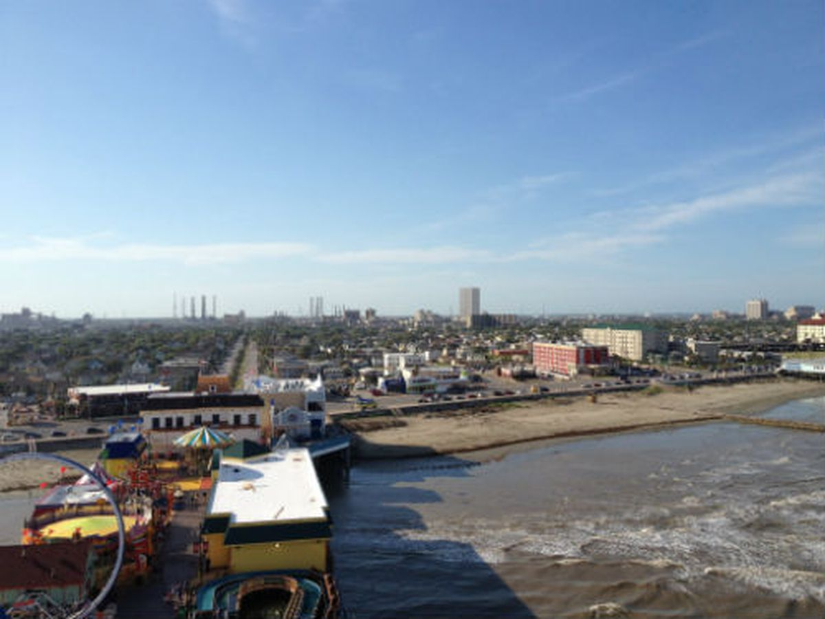 A view from the top of the Iron Shark at the Pleasure Pier.