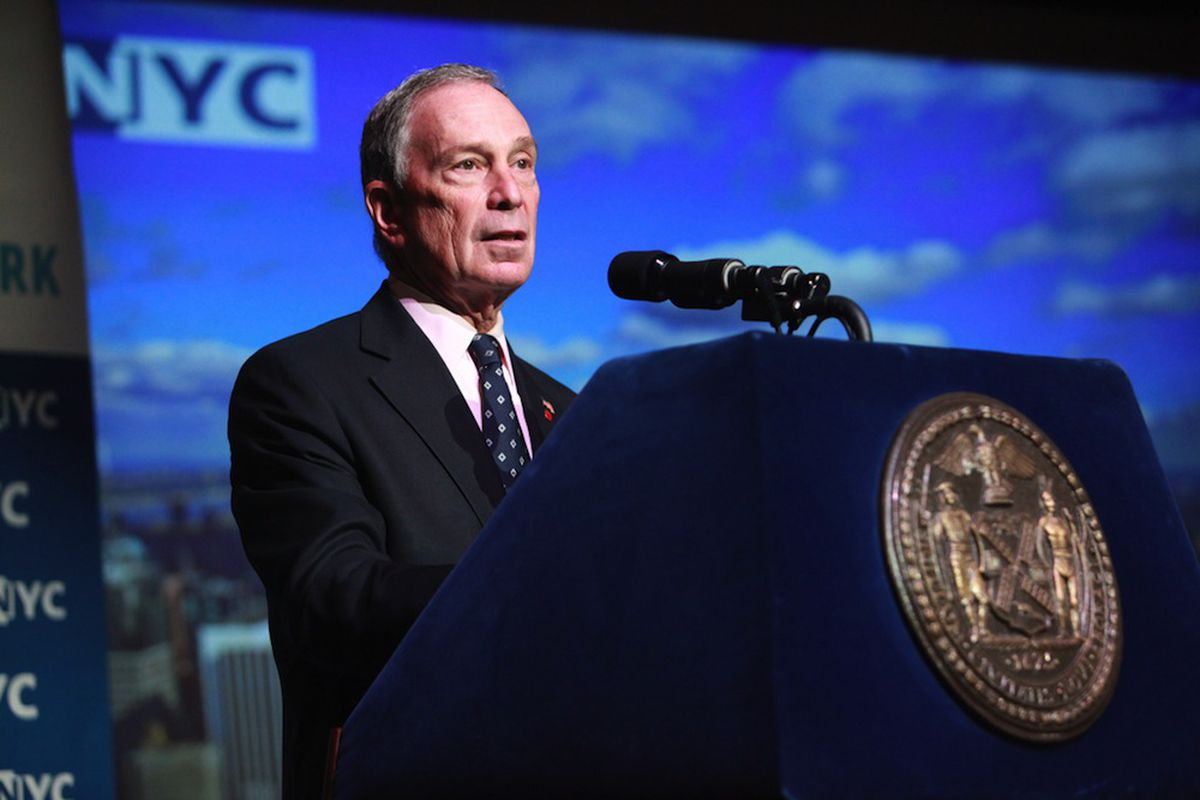 New York City Mayor Bloomberg with seal -- Flickr