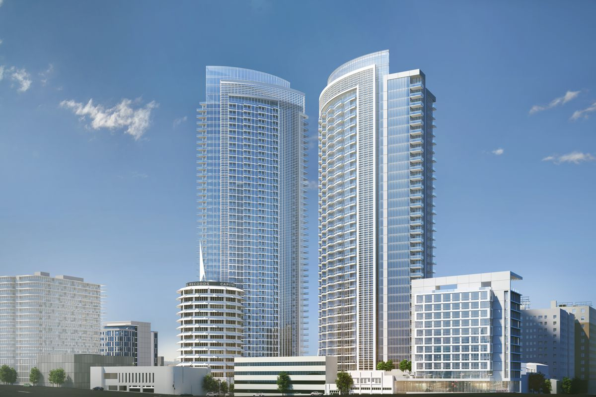 millennium hollywood development with two towers returns curbed la