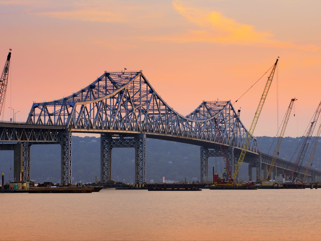 Tappan Zee Bridge connecting Tarrytown in Westchester and Nyack in Rockland County.