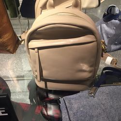 Leather backpack, $479