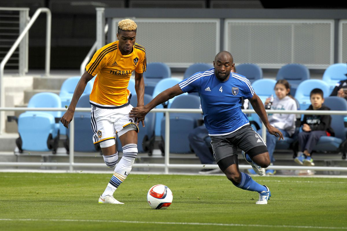 No, that's not Gyasi Zardes - it's Bradford Jamieson IV, the 18-year-old Galaxy II product whose emergence at right mid allows LA to stay in a familiar shape.