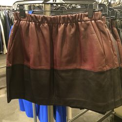 Leather skirt, size S, $129 (was $595)