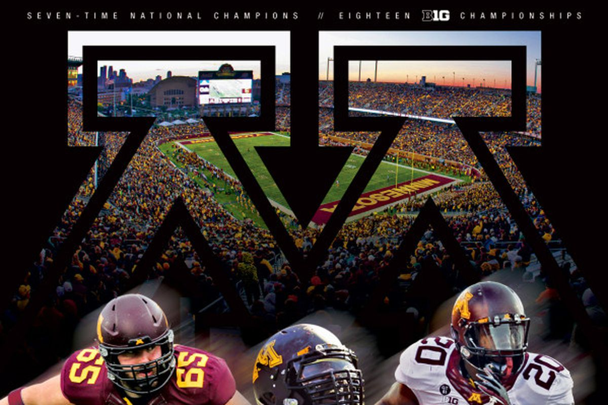 minnesota gopher football - schedule poster released, has moar