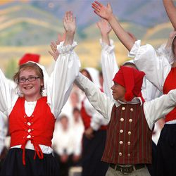 """Youths from northern Utah and southern Idaho performed in """"Harvest of Faith"""" Saturday evening at Box Elder High."""