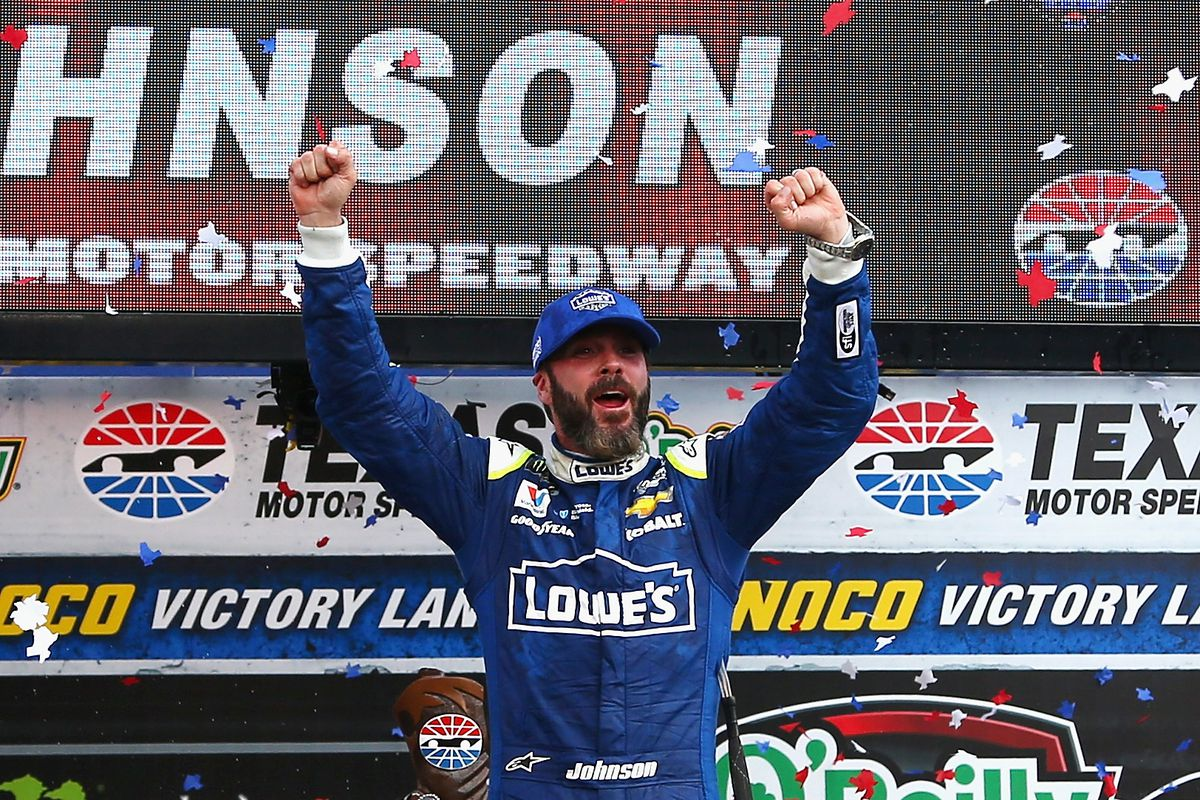 Nascar texas motor speedway results jimmie johnson wins o for Nascar texas motor speedway 2017