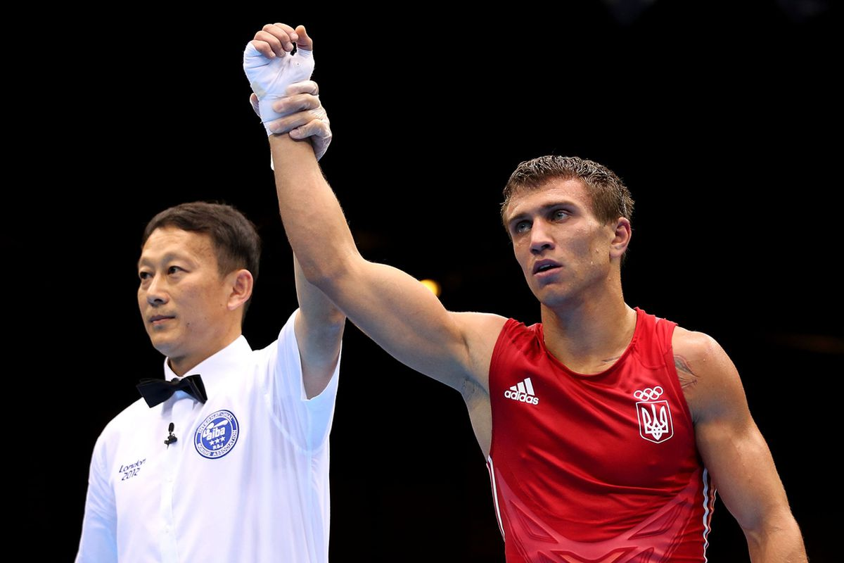 Vasyl Lomachenko cruised to a second Olympic gold medal, beating South Korea's Soonchul Han for the lightweight crown. (Photo by Scott Heavey/Getty Images)