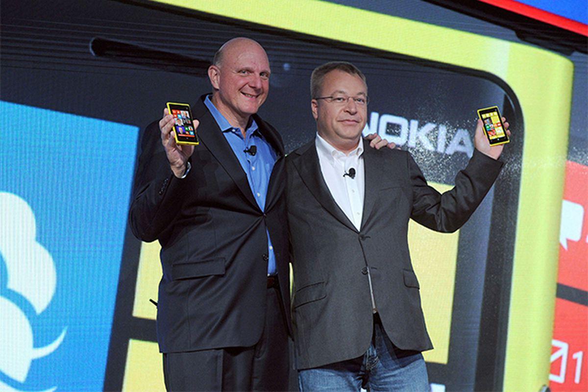 Stephen Elop and Steve Ballmer CEO stock