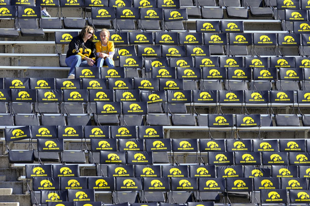 Lotta empty seats there, Hawks...
