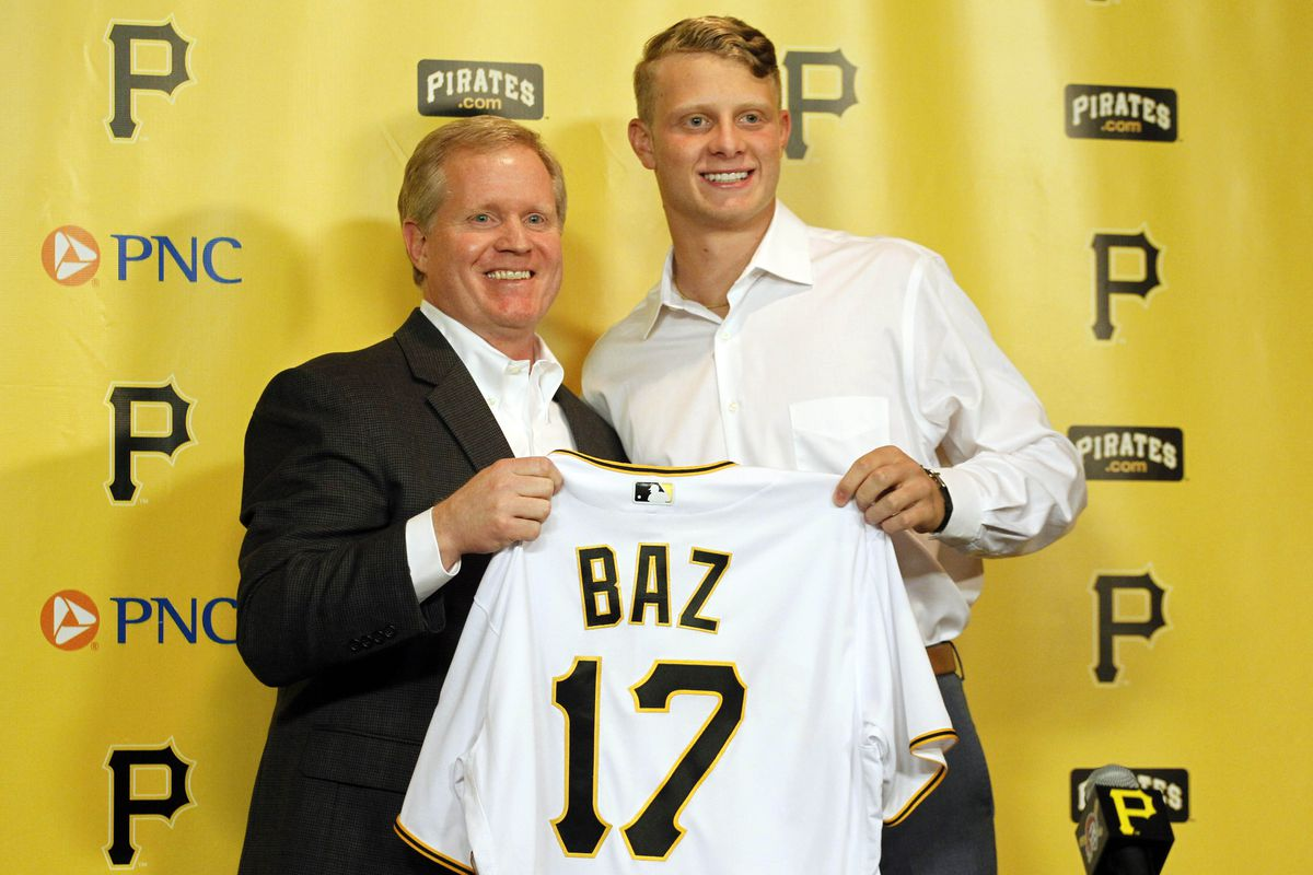Since nobody has been picked yet and the photo selection interface is acting weird, here's a photo of last year's #1 pick, Shane Baz.