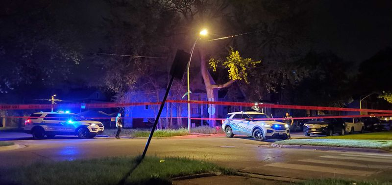 Two teenage boys were shot April 26, 2021, in South Chicago.