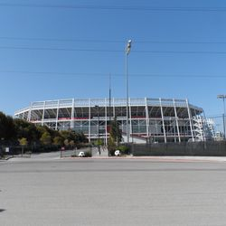 Levi's Stadium view from the train station