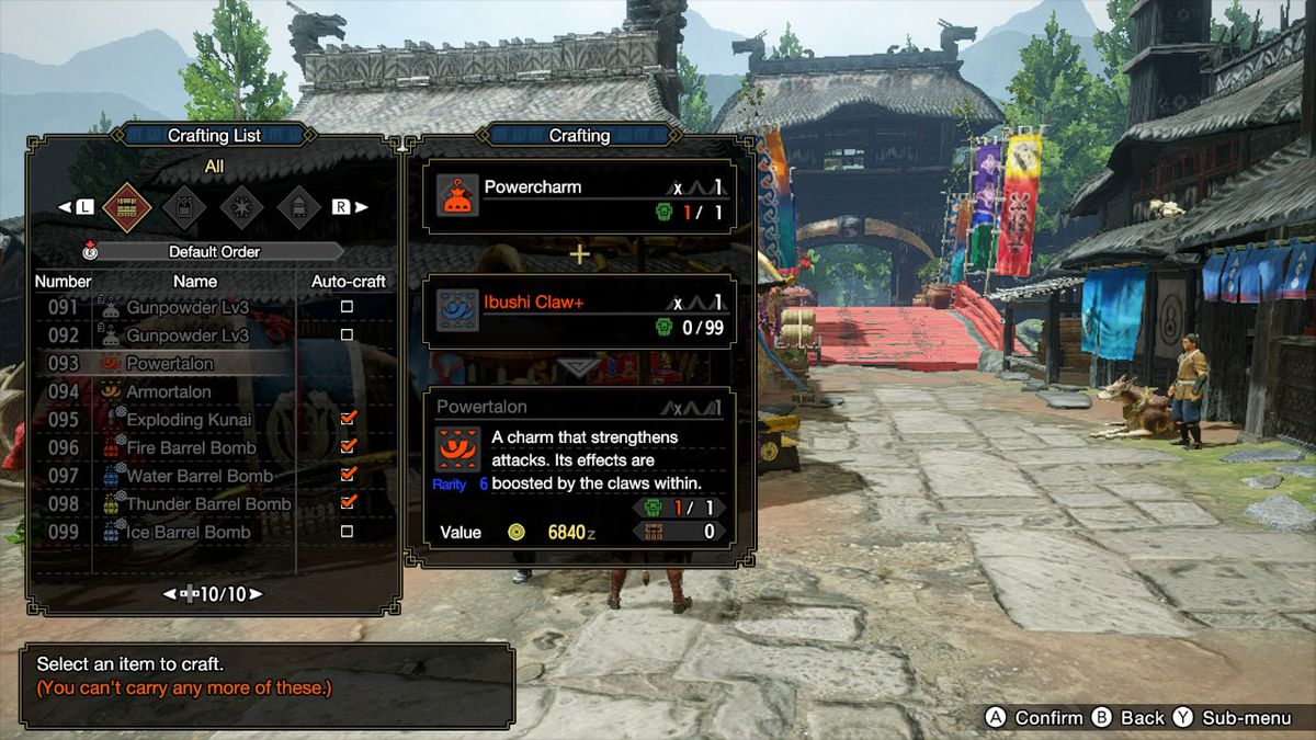 How to craft the Armortalon and Powertalon in Monster Hunter Rise