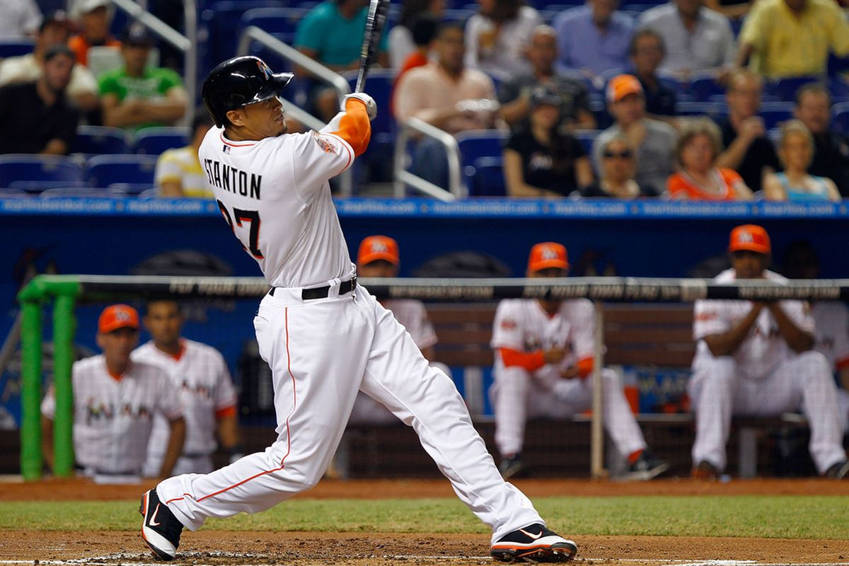 d1360ca16 This Day In Marlins History  Giancarlo Stanton Debuts - Fish Stripes