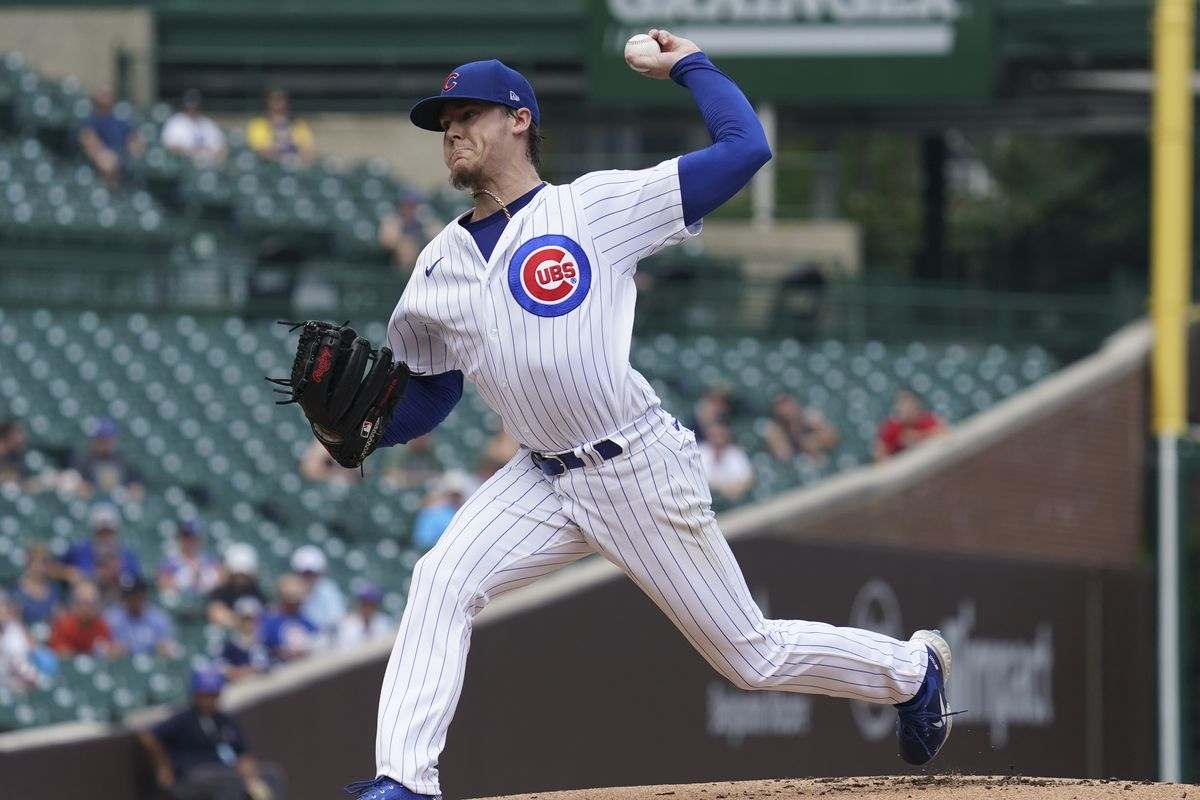 Cubs pitcher Justin Steele delivers during the first game of Tuesday's doubleheader against the Milwaukee Brewers.