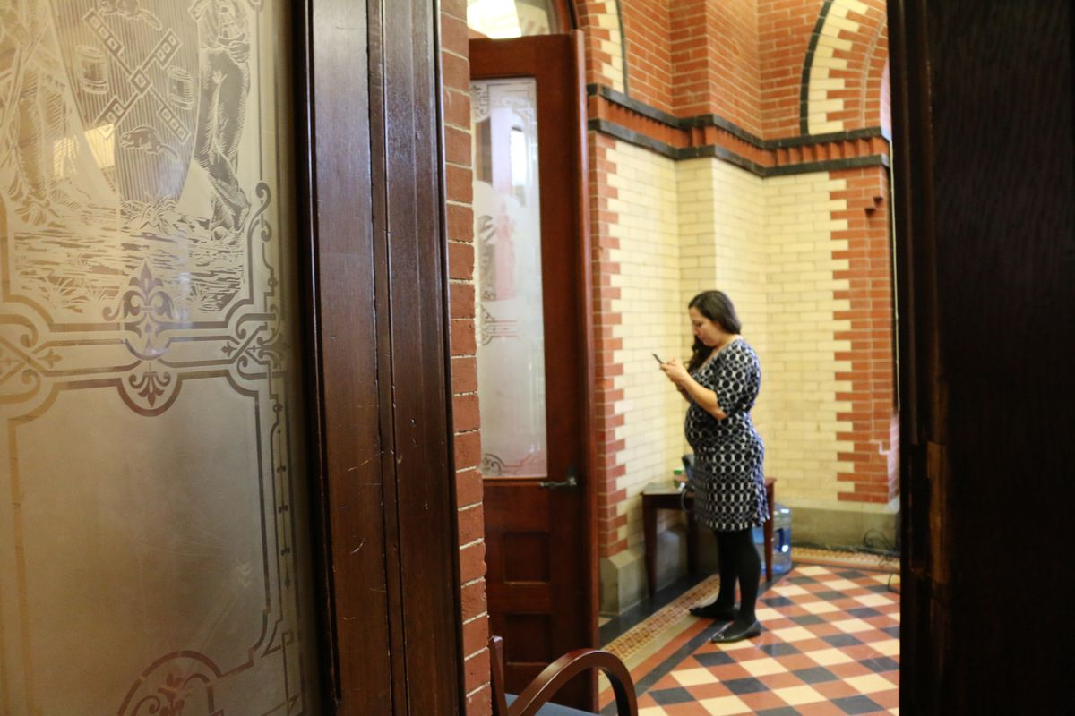 The chancellor's Chief of Staff, Ursulina Ramirez, lingered in Carmen Fariña's empty office after the chancellor left the education department headquarters.