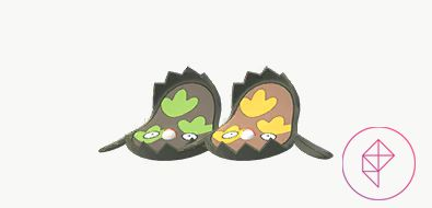 Shiny Galarian Stunfisk with its normal version. Shiny Galarian Stunfisk is brown and gold, like its Unovan version.