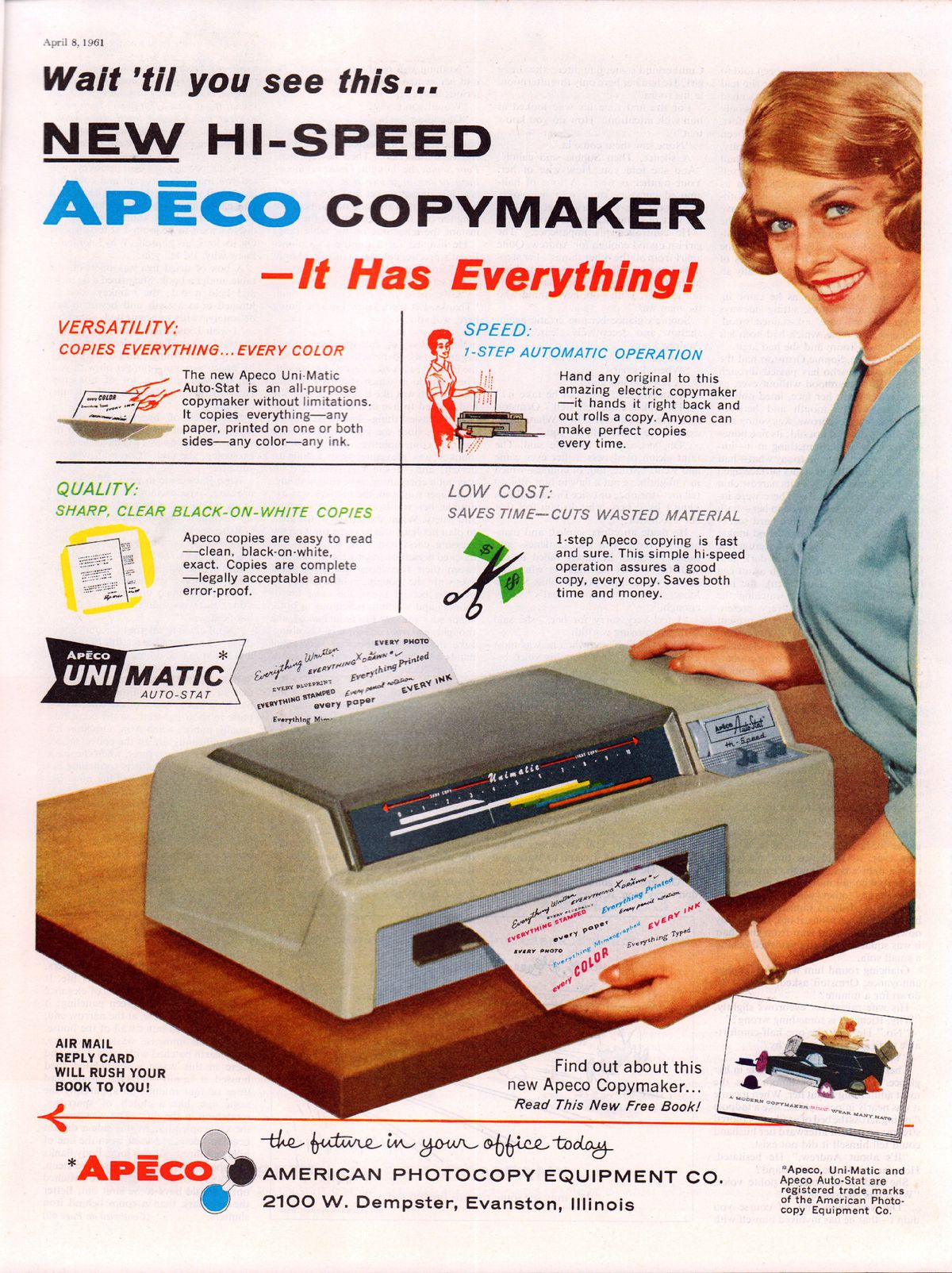 Apeco Ad, 1961