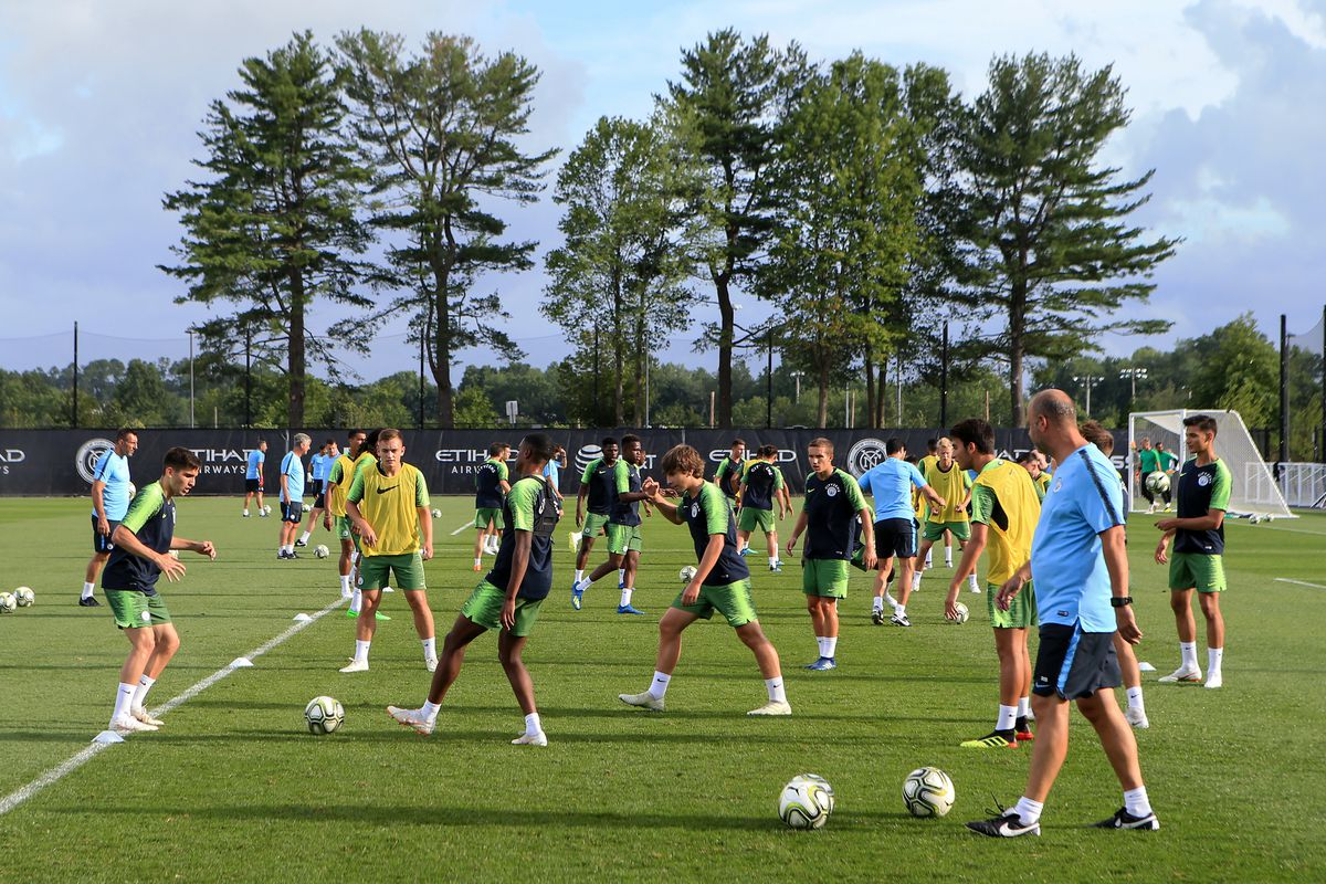 Manchester City Pre-Season Training and Press Conference