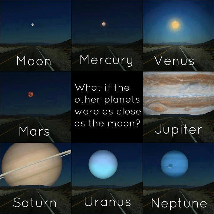 other planets instead of moon