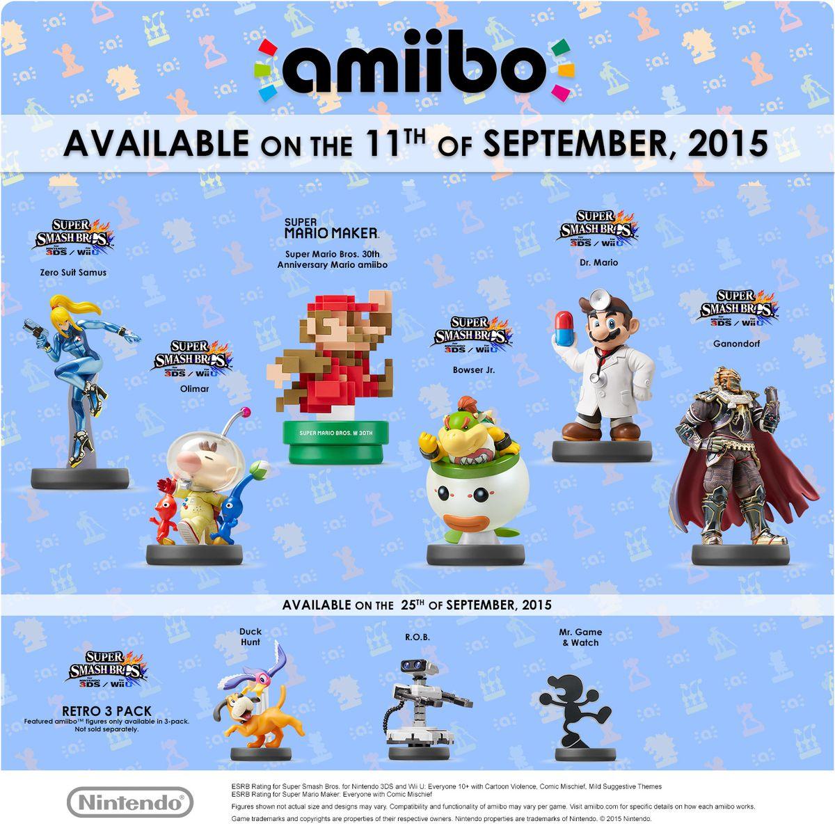 September 2015 amiibo image 1500