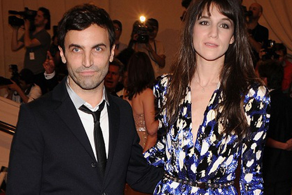 Nicolas Ghesquière and Charlotte Gainsbourg, via Getty