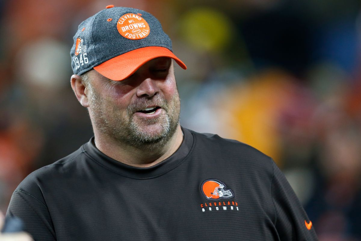 Head coach Freddie Kitchens of the Cleveland Browns walks on the field prior to the start of the game against the Pittsburgh Steelers at FirstEnergy Stadium on November 14, 2019 in Cleveland, Ohio.