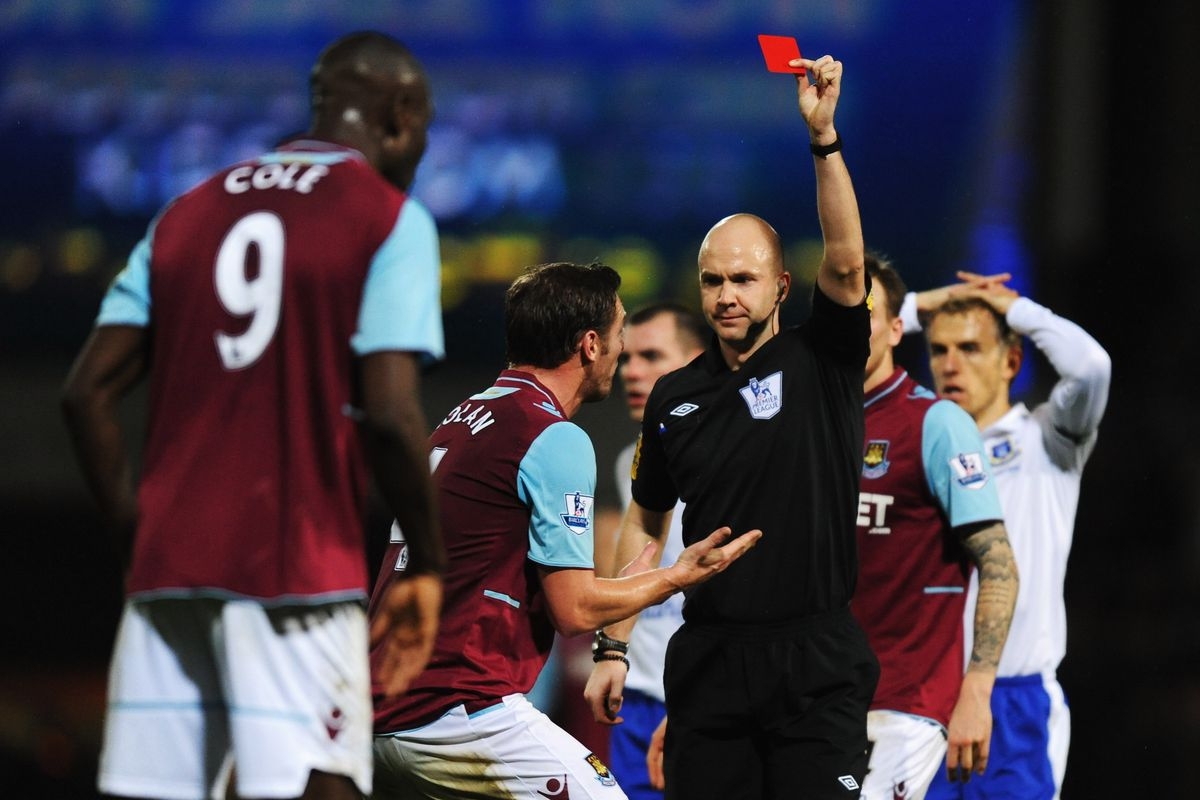 Ref Anthony Taylor brandished the red cards with abandon last time around.