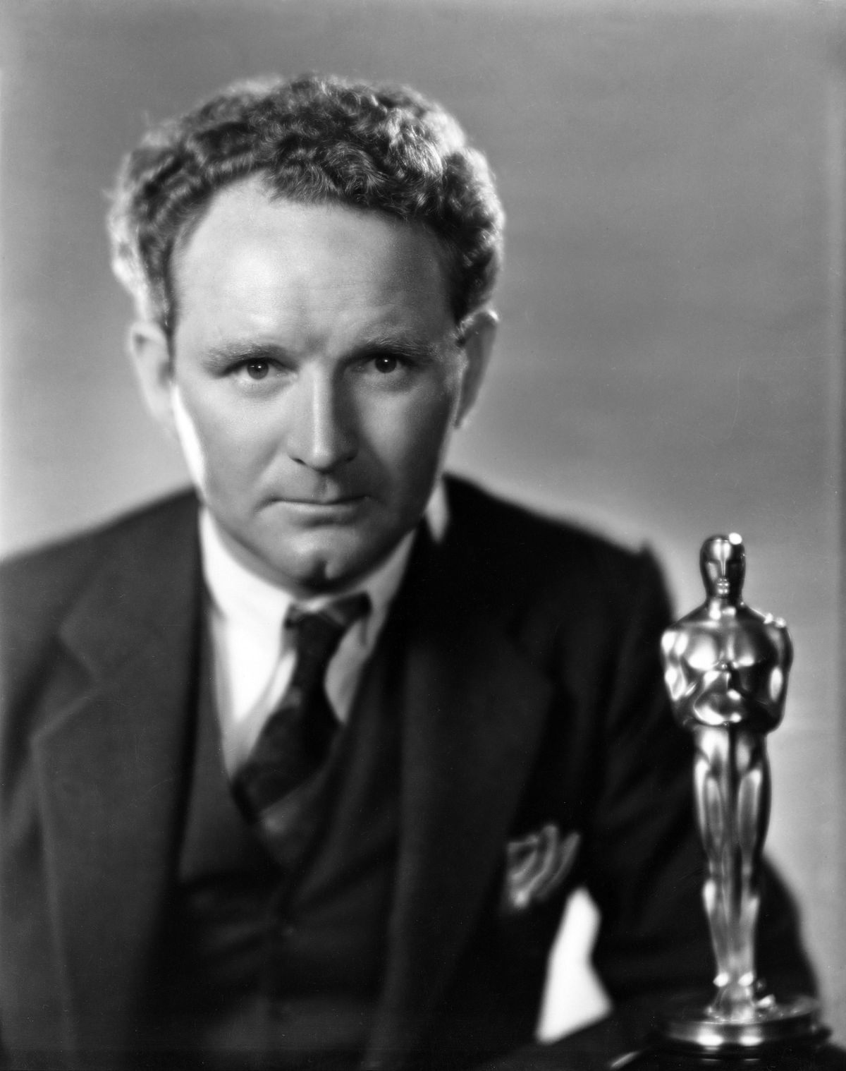 Director Frank Borzage with his 1929 Academy Award.