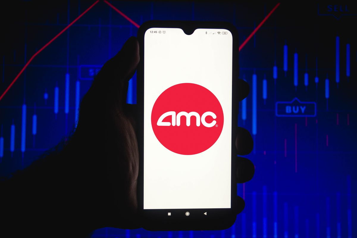 In this photo illustration the AMC Entertainment Holdings...