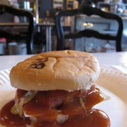 """Sandwich from Bowery Beef by <a href=""""http://www.flickr.com/photos/monicamuller/5496677099/in/pool-eater"""">monicamüller</a>.<br />"""
