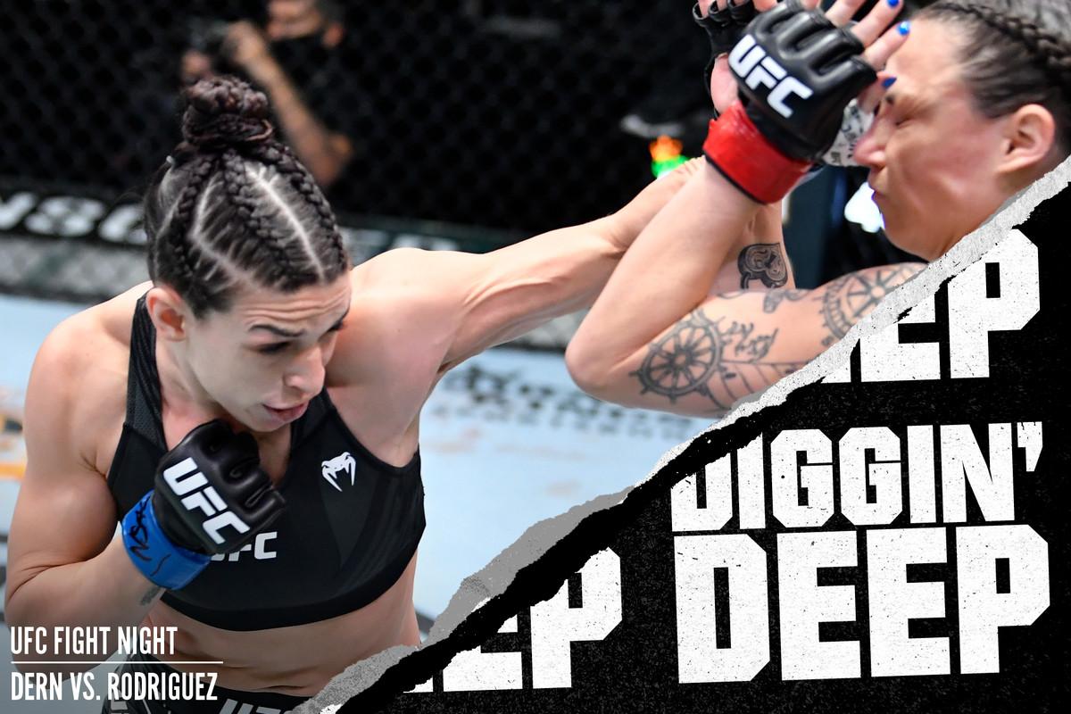 Mackenzie Dern fighting Nina Nunes at UFC on ABC 2