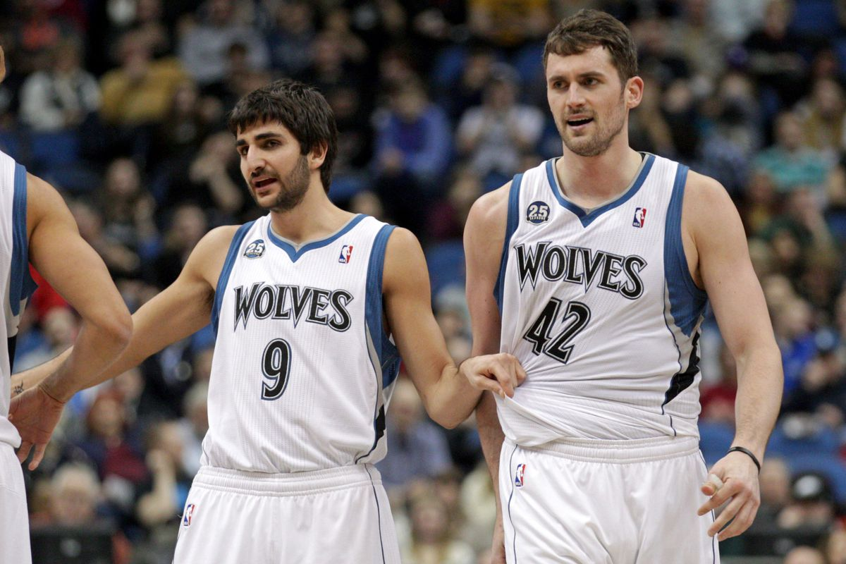 Ricky Rubio and Kevin Love