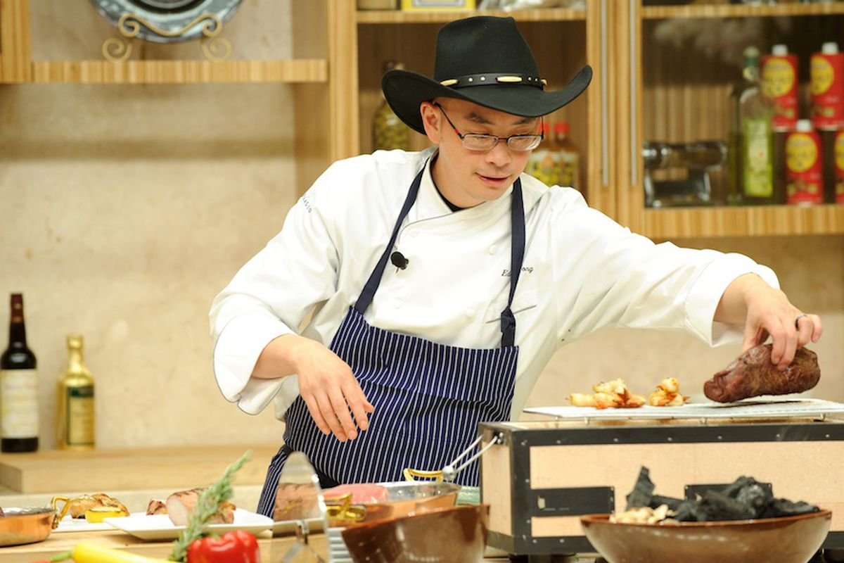 Bellagio executive chef Edmund Wong in the Tuscany Kitchen