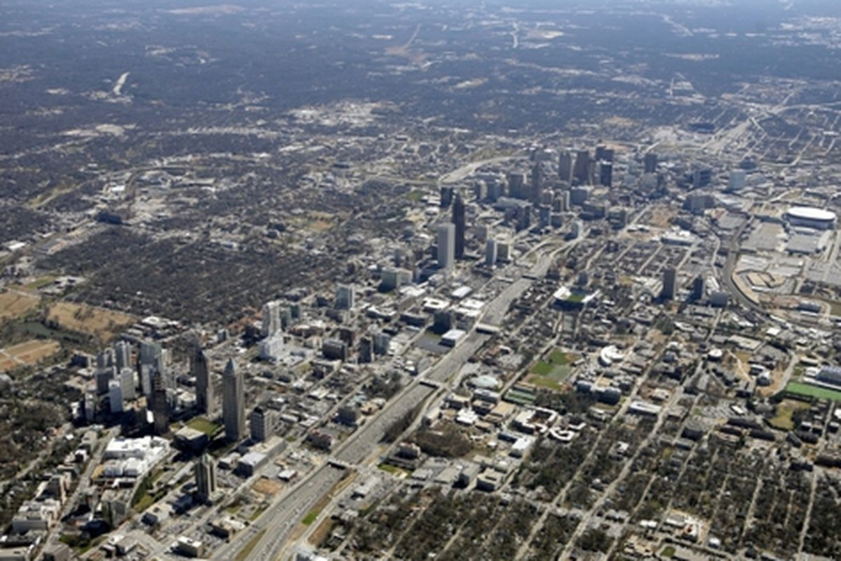 Atlanta's relatively dense core.